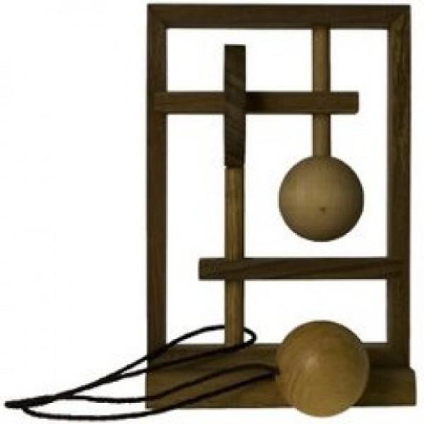 головоломка деревянная замок круть верть