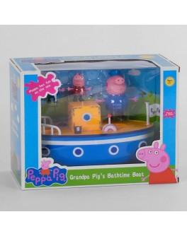 Ігровий набір Корабель з героями з мультфільму Свинка Пеппа 3 персонажа (АР 8806 А)