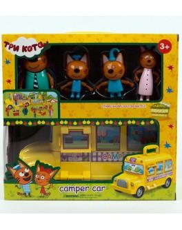 Ігровий набір герої Три кота. Camper Car Автобус для пікніка (M-8805)