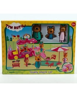 Ігровий набір герої Три кота. Lovely snack car Машина для пікніка (M-8804)