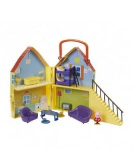 Игровой набор Peppa - ДОМ ПЕППЫ (домик с мебелью, фигурка Пеппы) - KDS 20835