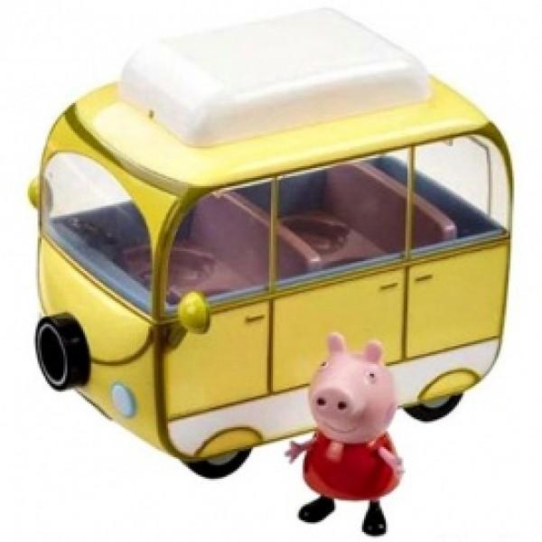фото Игровой набор Peppa - ВЕСЕЛЫЙ КЕМПИНГ (автобус, фигурка Пеппы) - KDS 15561