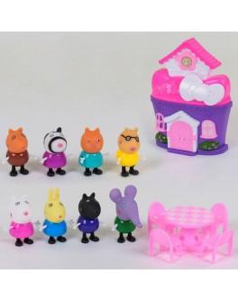Ігровий набір Yangguang Toys Factory Будиночок мультгероїв Свинка Пеппа (YM 8091)