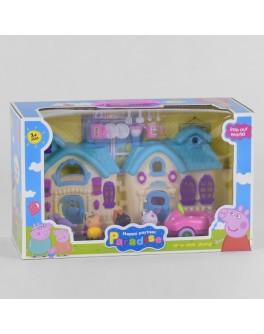 Ігровий набір Yangguang Toys Factory Будиночок Свинки Пеппи з фігурками, синій (YM 8015-6)