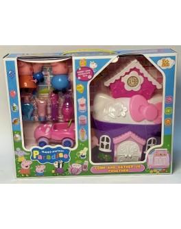 Ігровий набір Yangguang Toys Factory Будиночок Свинки Пеппи з фігурками (YM 377 A)