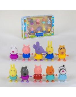 Ігровий набір Yangguang Toys Factory Фігурки з мультфільму Свинка Пеппа 10 фігурок (5807-2)