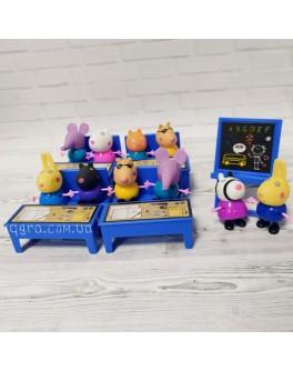 Ігровий набір Yangguang Toys Factory Школа  Фігурки з мультфільму Свинка Пеппа 10 фігурок (YM 665-59)