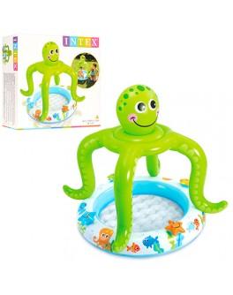 Детский бассейн с навесом Intex Осьминог 102х104 см (57115) - mpl 57115