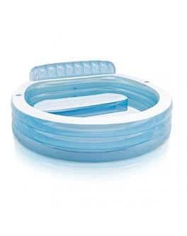 Надувной бассейн Intex с надувным сидением 224х216х76 см (57190) - mpl 57190