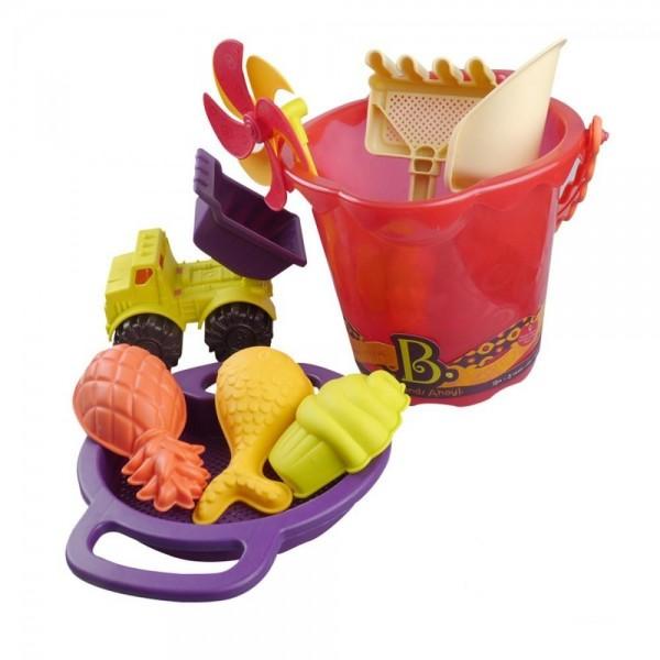 Набор для игры с песком и водой Battat Ведерко Манго, 9 предметов - KDS BX1331Z