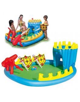 """Игровой центр """"Осада замка"""", с душем, шариками и надувн. оружием 52169"""