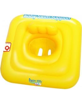 Надувной плотик Bestway Swim Safe со спинкой 69х69 см (32050)