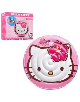 Надувной плотик Intex Hello Kitty с веревкой 137 см (56513)