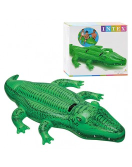 Надувной плотик Intex Крокодил 203х114 см (58562)