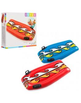 Плотик детский надувной Intex с ручками 112х62 cм (58165) - mlt 58165
