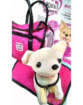 """Собачка """"Кикки"""" в сумочке, 25 см"""