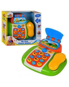 Развивающая игрушка Телефон, звук, свет HAP-P-KID - mpl 4202 T