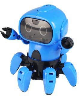 Робот-конструктор VBESTLIFE Small Six Robot висота 16 см, 2 режими, ІК-датчик, рух вперед/назад, LED-підсвітка очей (963)