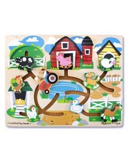 Деревянный лабиринт Ферма, Melissa&Doug