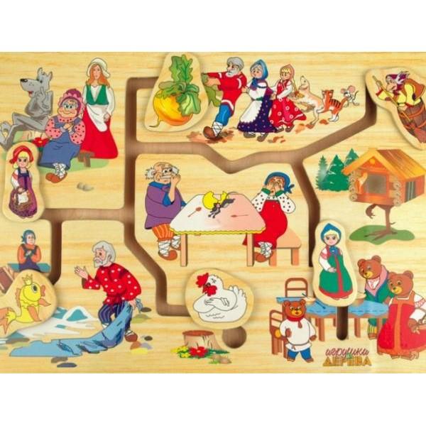 Деревянный лабиринт Мир сказки 1, Мди - Der p59
