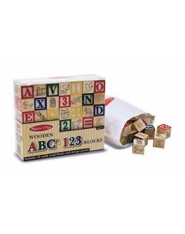Деревянные кубики Азбука и цифры, Melissa & Doug - MD 1900