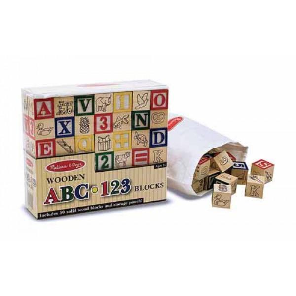 фото Деревянные кубики Азбука и цифры, Melissa & Doug - MD 1900
