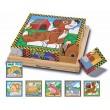 Деревянные кубики пазл Домашние животные, Melissa & Doug - MD 3771