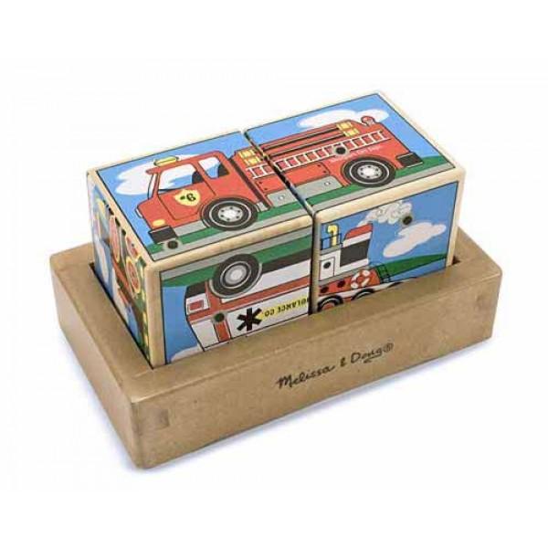 кубики Транспорт, Melissa Doug MD1272