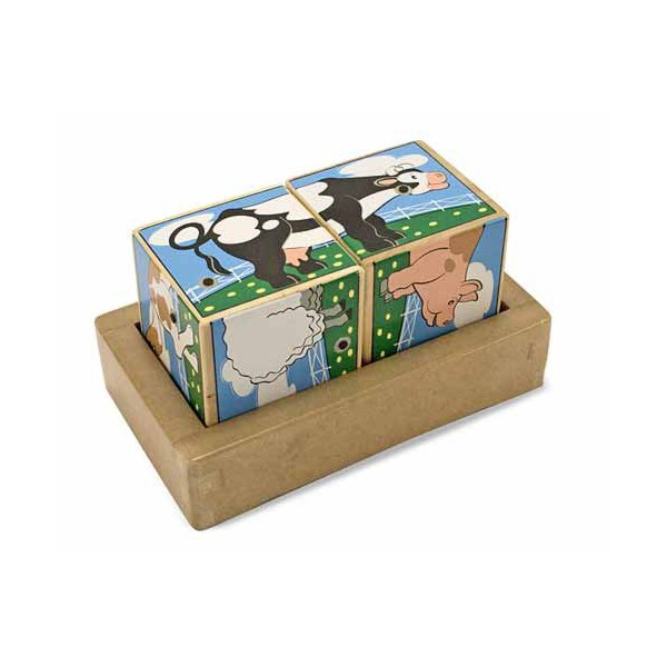 фото Деревянные кубики музыкальные Ферма, Melissa & Doug - MD 1196
