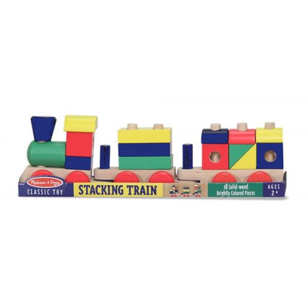 фото Деревянная игрушка Поезд c кубиками, Melissa & Doug - MD 572
