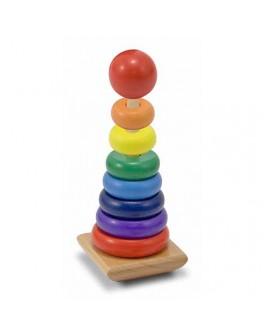 Деревянная игрушка пирамидка Радужная Melissa&Doug - MD 10576