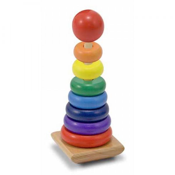 Деревянная игрушка пирамидка Радужная, Melissa&Doug - MD 10576