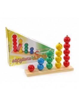 Деревянная игрушка пирамидки-счет Шары 5 в 1, Мди - Der 079