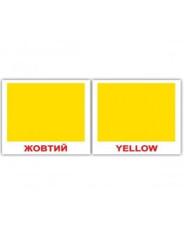 Карточки Домана мини Цвета англо-украинские Вундеркинд с пеленок