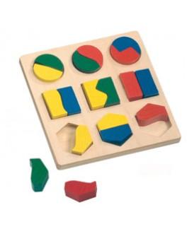 Половинки Большие. Развивающая игрушка Сегена - Der 057