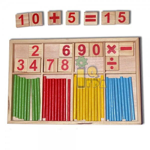 Деревянный набор для счета - mlt 02-65