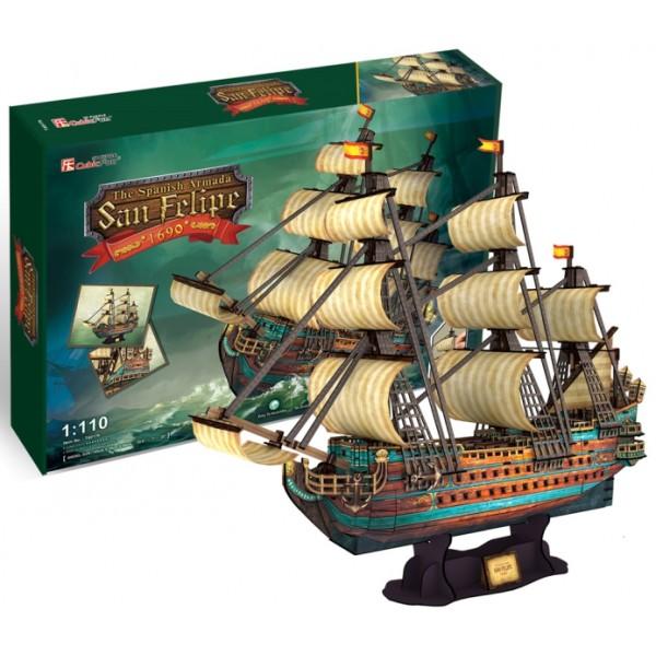 3D-конструктор CubicFun Испанская армада Сан Фелипе (T4017h)