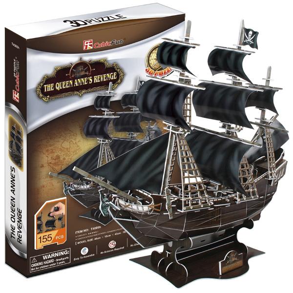3D-конструктор CubicFun Корабль Месть королевы Анны (T4005h)