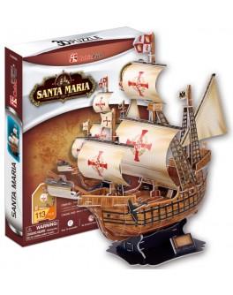 3D-конструктор CubicFun Корабль Санта Мария (T4008h)