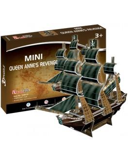 3D-конструктор CubicFun мини Корабль Месть королевы Анны (S3031h)