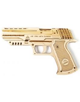 Пистолет Вольф-01 Конструктор Механический 3d-пазл UGears - UG 70047