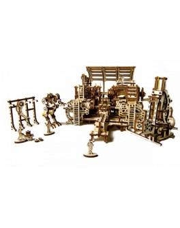 Конструктор Механический 3d-пазл UGears Фабрика роботов - UG 70039