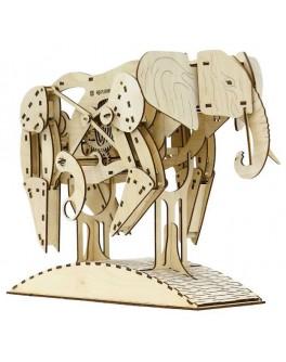 Механический конструктор 3D из дерева Слон, MR. Playwood - MPlay 10004