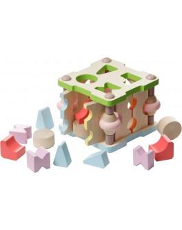 Деревянный сортер квадратный маленький Cubika (11612) - cub 11612