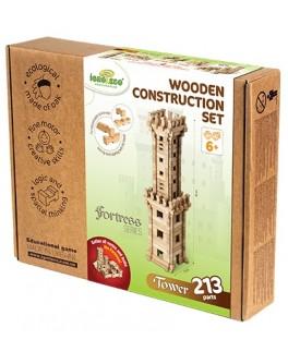 Деревянный конструктор Игротеко - Башня на 213 деталей - igroteco 0033