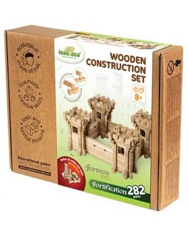 Деревянный конструктор Игротеко - Оборонительные Стены на 282 детали - igroteco 900347