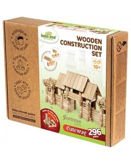 Деревянный конструктор Игротеко - Въездные ворота на 296 деталей - igroteco 900354