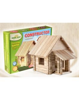 Деревянный конструктор Игротеко  - Загородный дом 4в1 на 146 деталей - mlt zag-4v1