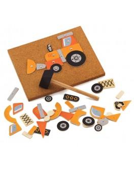 Деревянная игра с молоточком Viga Toys Строительная техника (50336) - afk 50336