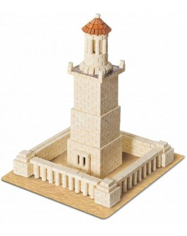 Конструктор из керамических мини-кирпичиков Александрийский маяк, 970 деталей - esk 70323